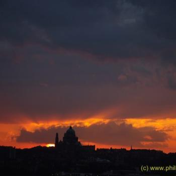 soir sur la basilique